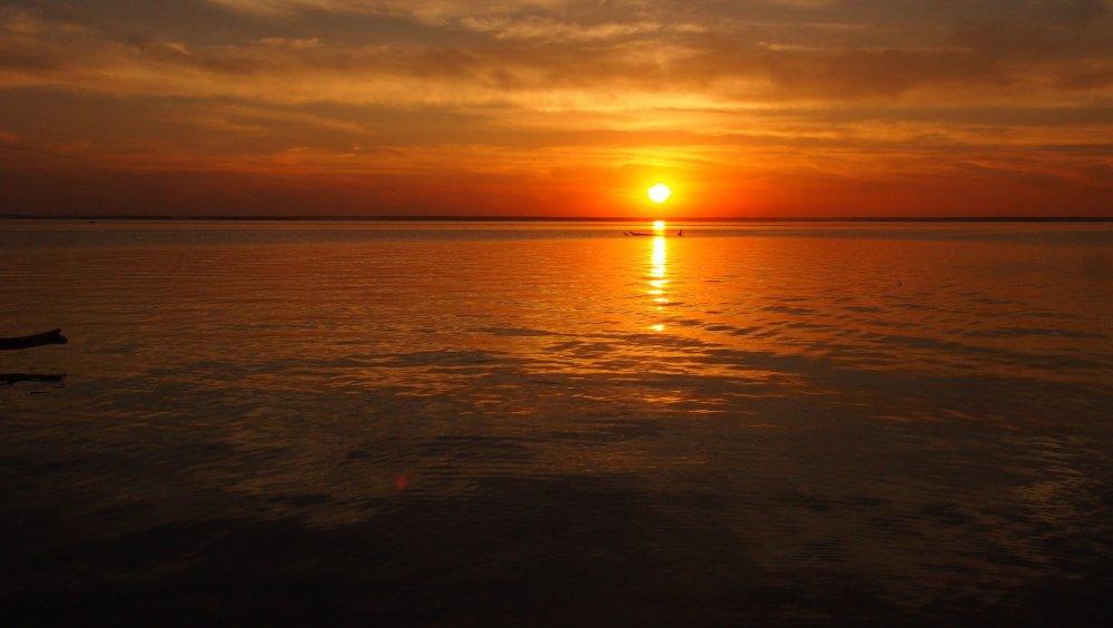 Закат на Обском море