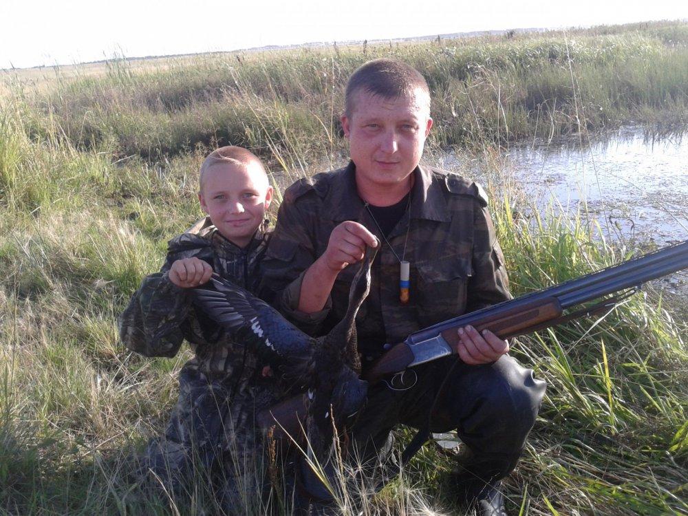 Охота с сыном.