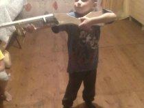 Сделал сына,пришлось делать и ружье.