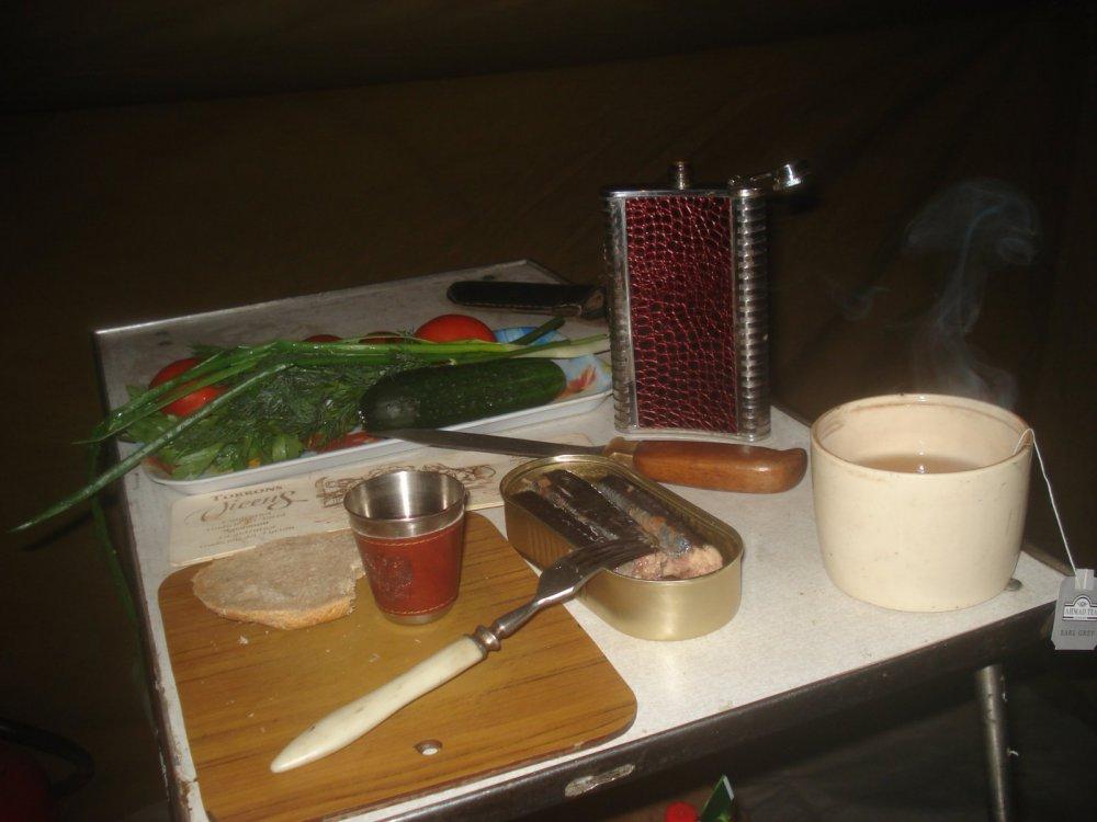 Скромный ужин одинокого скитальца