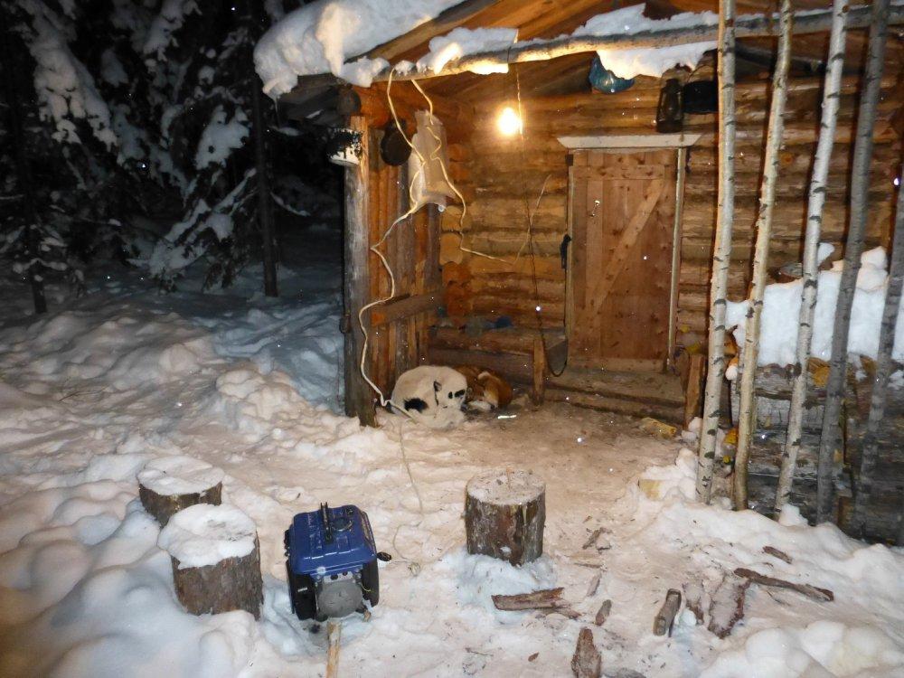 Вечер в зимовье