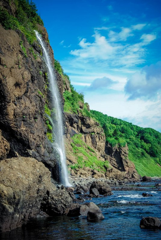 Водопад хребта Жданко. Сахалин