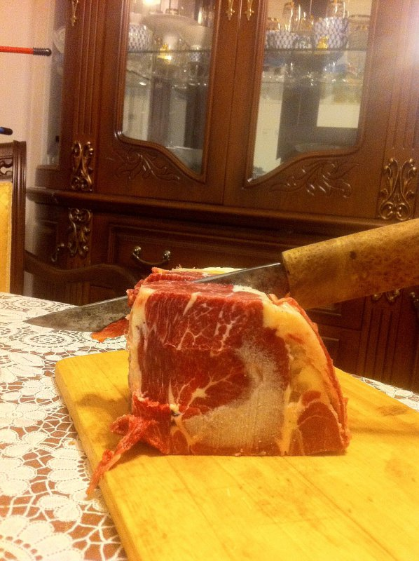Нож востер, хорош по мясу