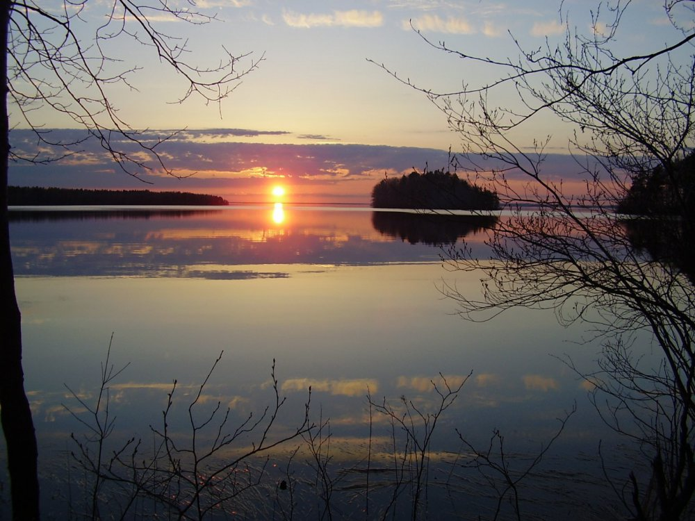 Закат в Карелии