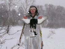 Косач в снегопад
