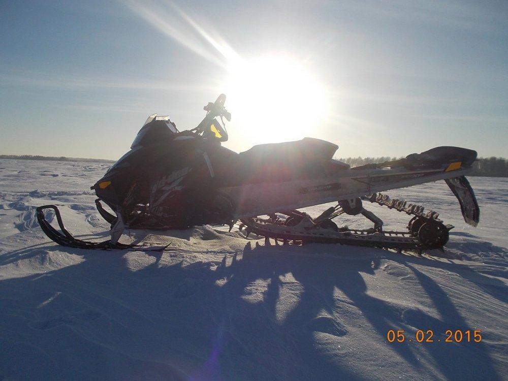 Мороз,снегоход и Солнце, день чудесный!
