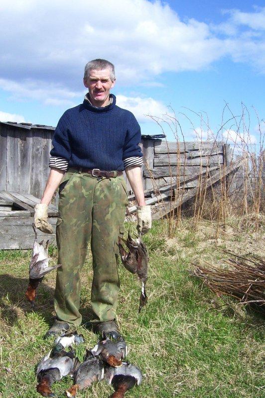 Отец после охоты