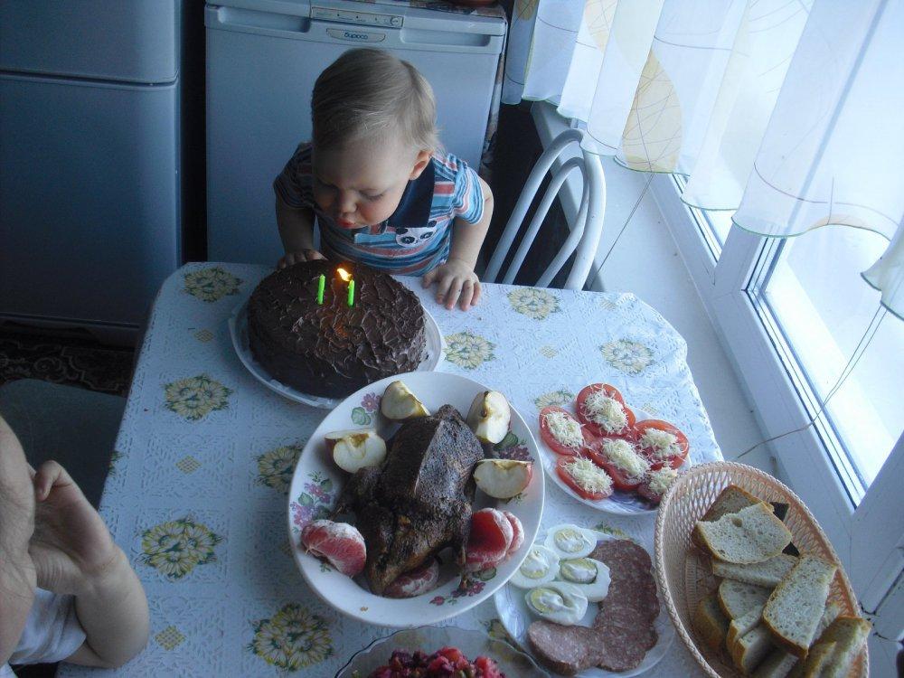 День рождения будущего охотника.
