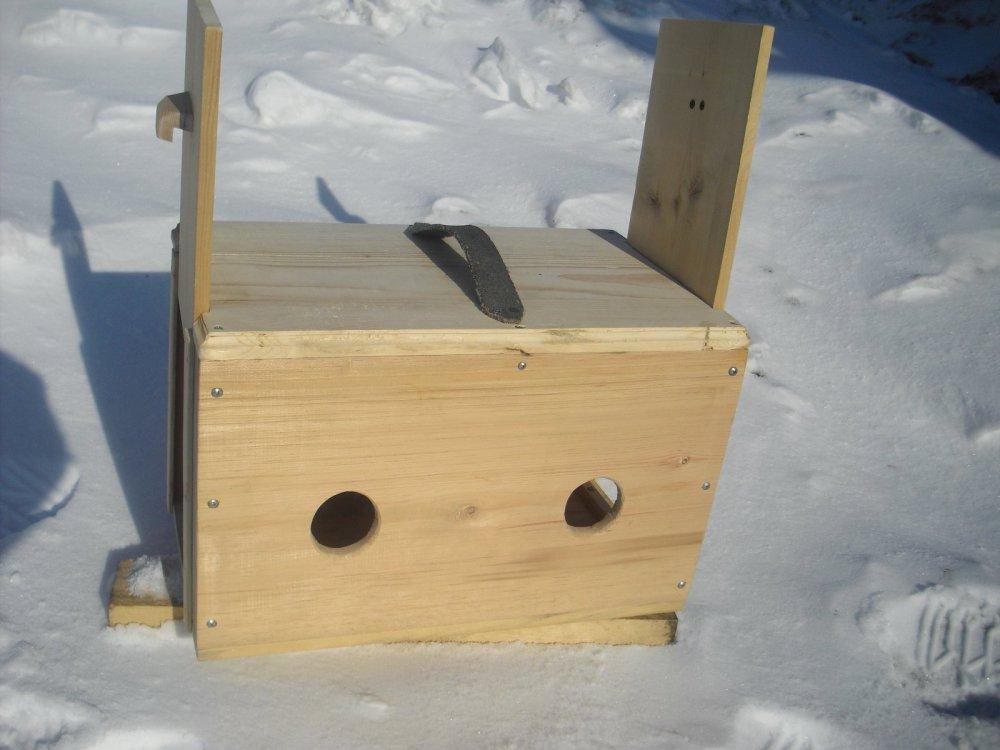 Вот такой у меня ящик под двух подсадных уток.