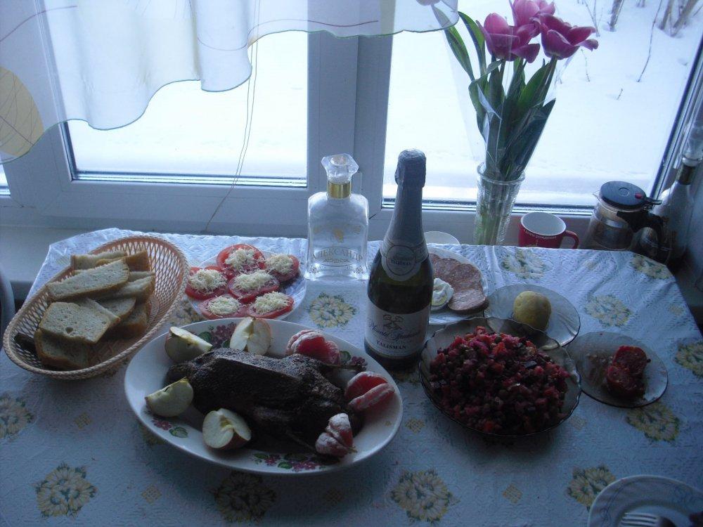 Очень скромный завтрак 9 марта.