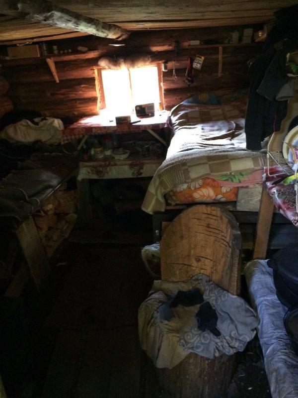 Охотничья изба старого Алтайского охотника Николая. Вид изнутри!