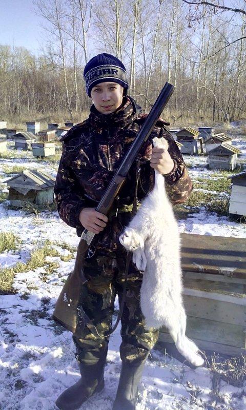 Первый заяц!