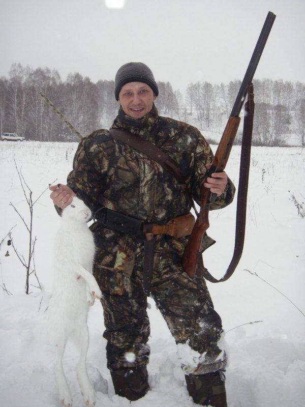 Первый заяц с первого выстрела.