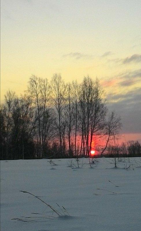 Январский рассвет.