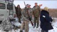 Спор охотников. Мужики козла убили