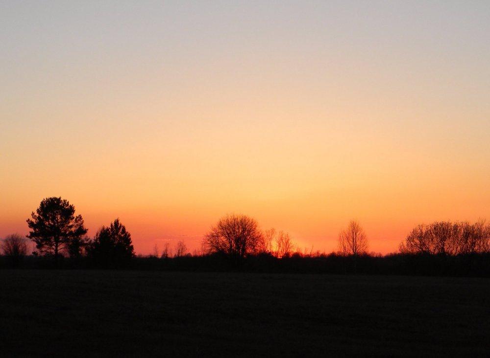 Весна. Закат.