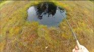 Рыбалка в озере 3х3 метра !