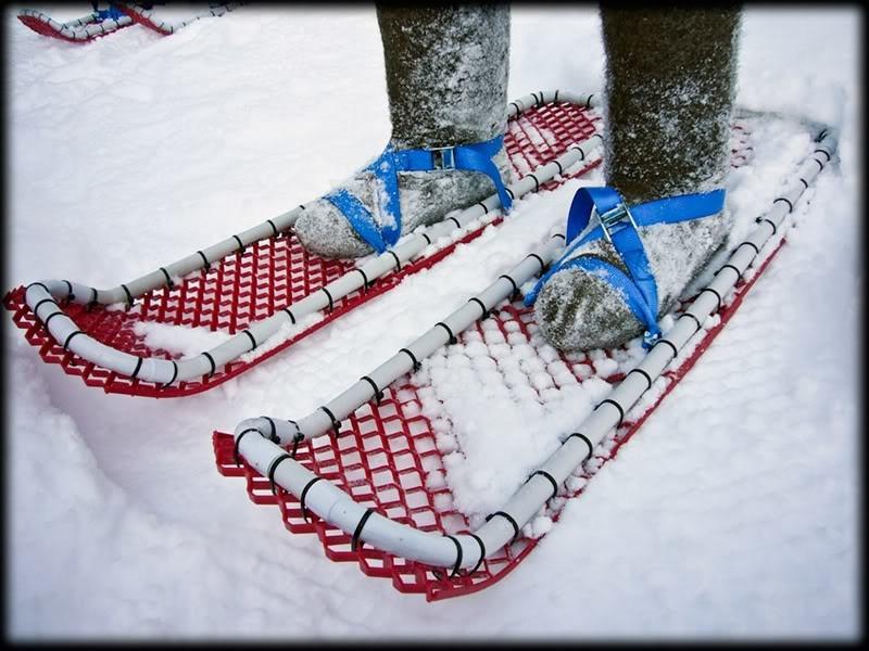 Снегоступы своими руками из пластиковых труб чертежи