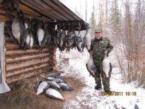 Удачная охота на гусей.