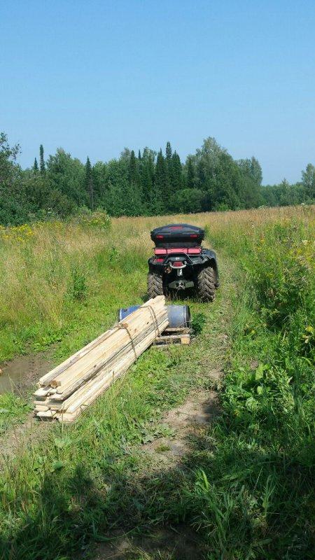 Начало стройки лабаза.