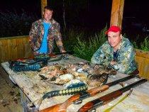 Итог вечерней охоты.