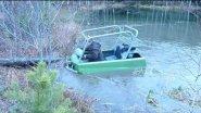 Пробуем утопить в озере. Пелец.