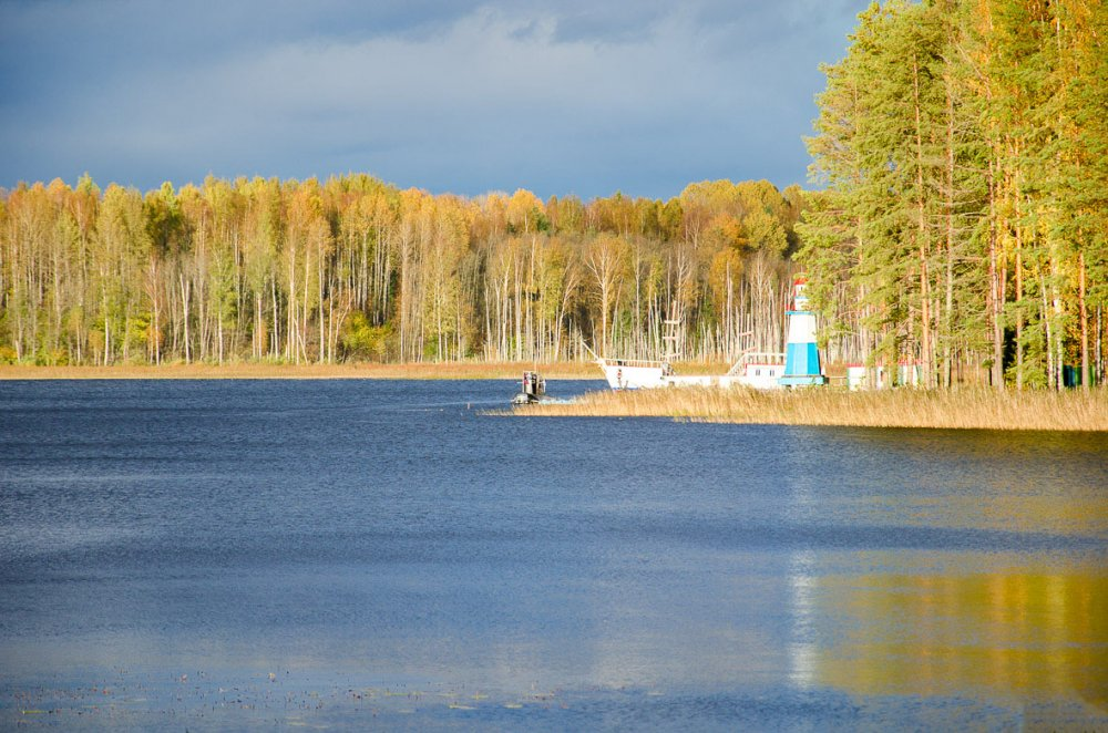 Осень на озере.