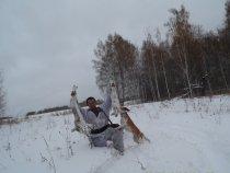 Охота с эстонской гончей!!!!