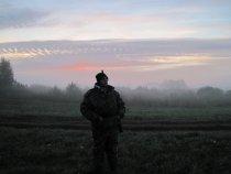 утро ))собрались идти на охоту)