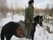 На охоту на коне красота!