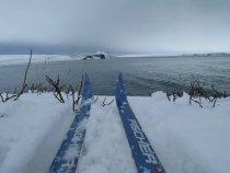 Лыжи и море)