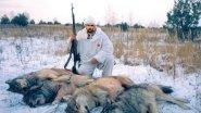 Охота на Волков с флажками! Страшная охота. Часть 2.