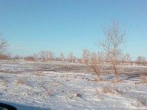 с полей снег сдуло!