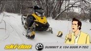 Первый выезд на снегоходе BRP Ski-doo Summit X 154 p-tec