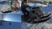 Мотобуксировщик эволюционирует в снегоход!!! Проверка в жестких условиях!!!