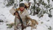 Зима. Сибирская охота на волков.
