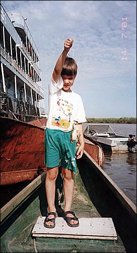 Лягушка для сома, Волга