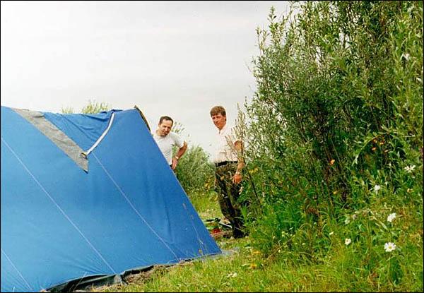 Ставим палатки
