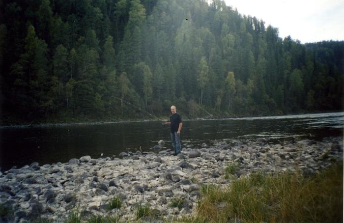 Рыбалка на реке Бия, харюзовые места.