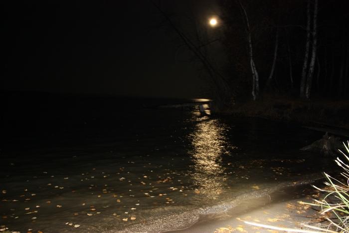 Осень, обское море, ночь!