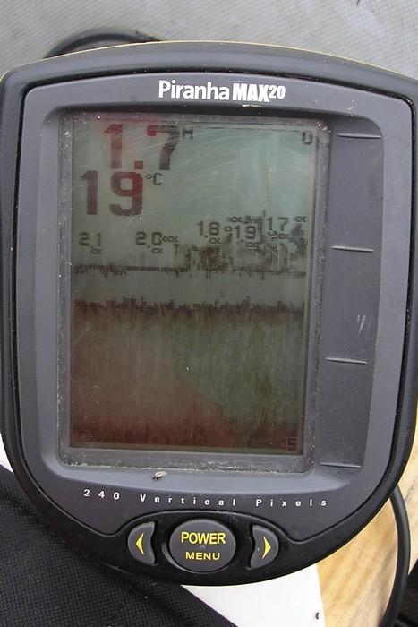 Условия ловли: глубина, температура, количество рыбы.