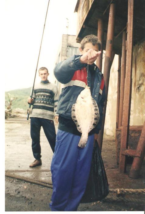 я с камбалой на о.Сахалин 2001 год