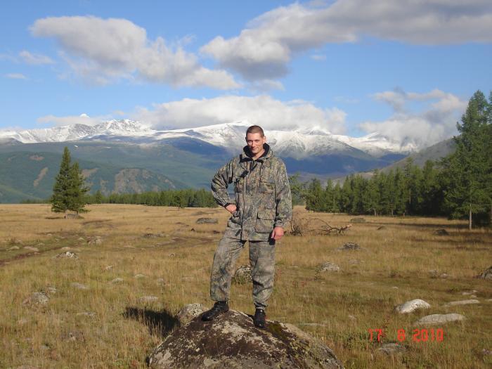 Горный Алтай на границе с Казахстаном