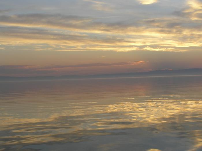 Закат на Байкале. Никогда не забуду...