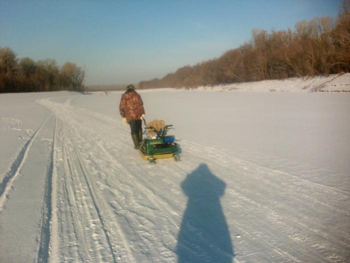 Пока рыбачил, снегоход уперли )))) шутка