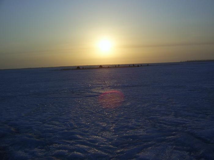 Солнышко на озере.