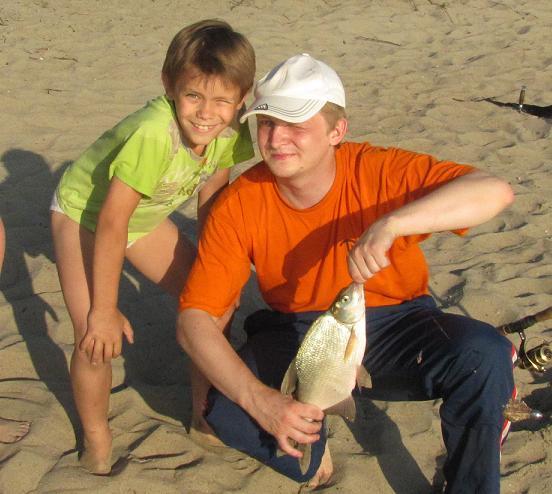 Рыбалка с детями в Заебибихе. Рып отпущен, как и остальные.