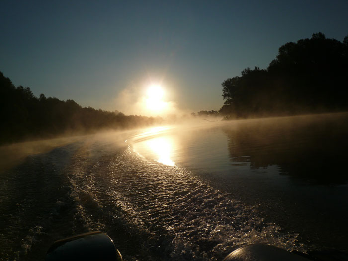 Обские протоки-ранним утром.