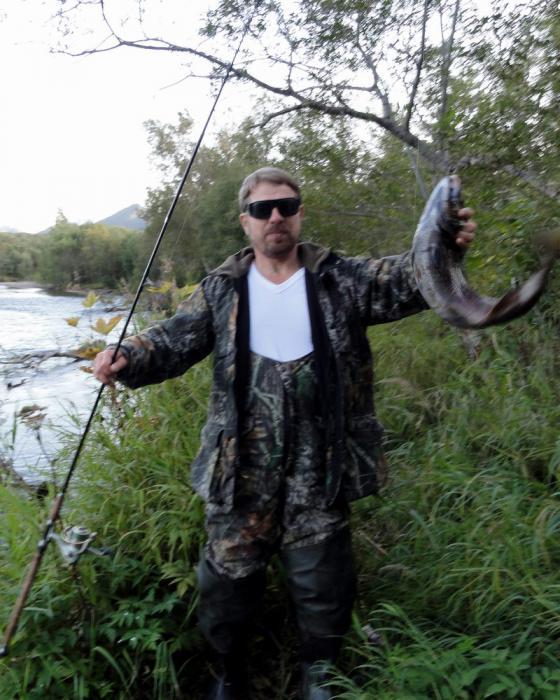 Камчатка. Река Паратунка. Кижуч на 3,5 кг.
