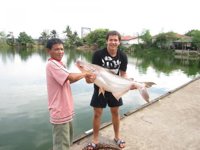 Поймал в тайланде на платном озере 21 кг